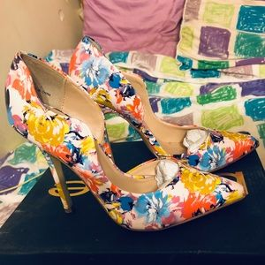 Bebe Farnaz Multi Colored Pump Heels